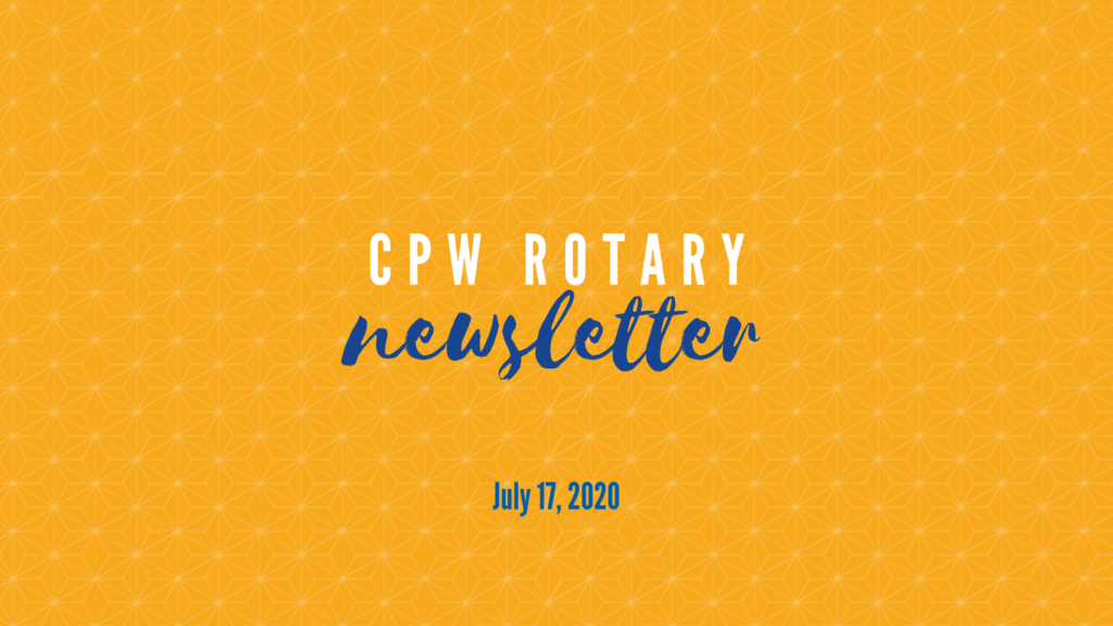 CPW Rotary July 2020 Newsletter Header Image